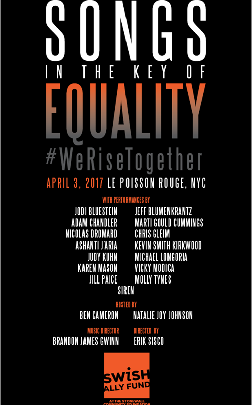 Broadway Stars Line up for the Annual Songs in the Key of Equality Benefit Concert on April 3rd
