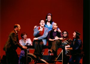 A Class Act - Tokyo - 2002 (with L to R Jeff Blumenkrantz, Donna Bullock, Patrick Quinn, MIchelle Duffy, Lonny Price, Sara Ramirez, and David Hibbard